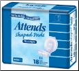 Attends Shaped Pads Super